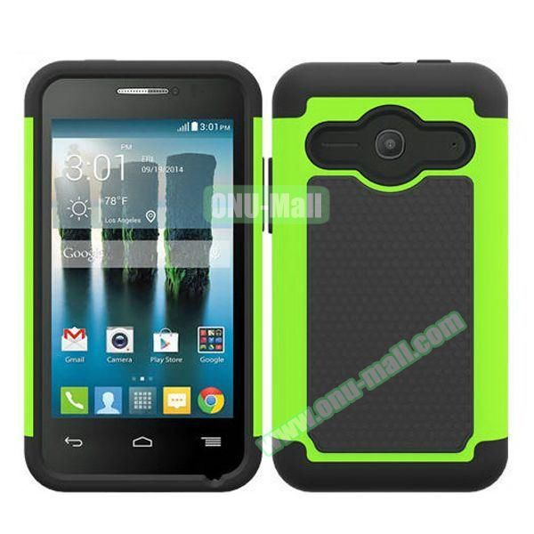 Football Texture Silicone and PC Hybrid Rubber Case for Alcatel One Touch Evolve 2 (Green)