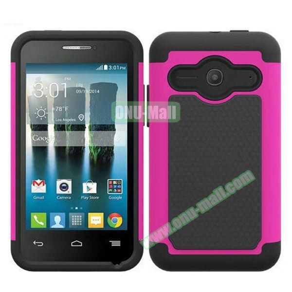 Football Texture Silicone and PC Hybrid Rubber Case for Alcatel One Touch Evolve 2 (Pink)