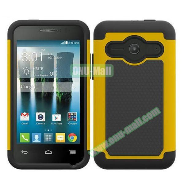 Football Texture Silicone and PC Hybrid Rubber Case for Alcatel One Touch Evolve 2 (Yellow)