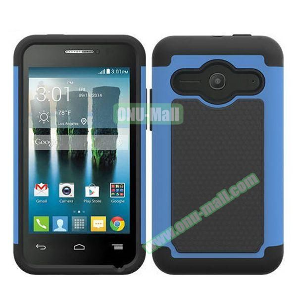 Football Texture Silicone and PC Hybrid Rubber Case for Alcatel One Touch Evolve 2 (Light Blue)