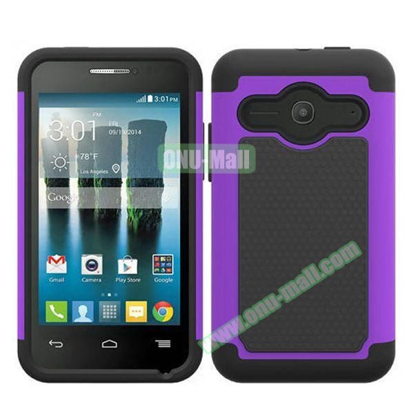 Football Texture Silicone and PC Hybrid Rubber Case for Alcatel One Touch Evolve 2 (Purple)