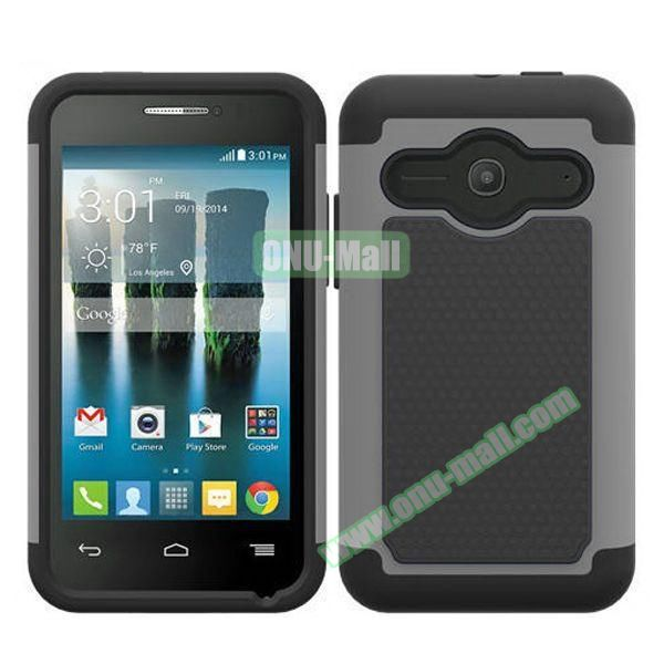 Football Texture Silicone and PC Hybrid Rubber Case for Alcatel One Touch Evolve 2 (Grey)