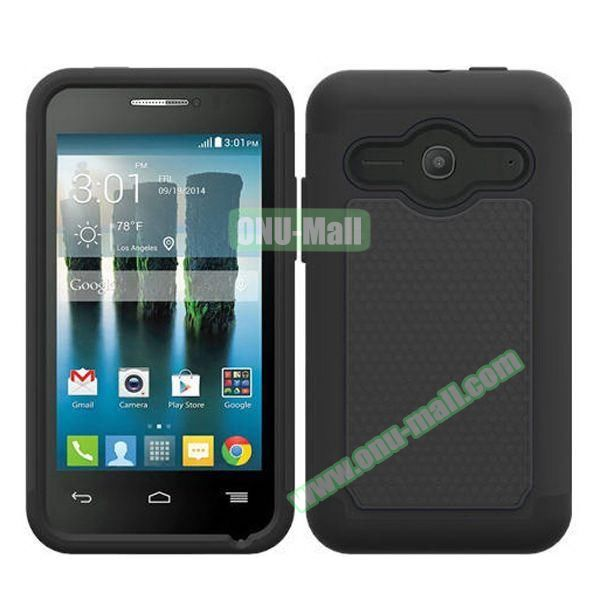 Football Texture Silicone and PC Hybrid Rubber Case for Alcatel One Touch Evolve 2 (Black)