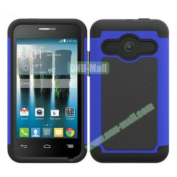 Football Texture Silicone and PC Hybrid Rubber Case for Alcatel One Touch Evolve 2 (Blue)