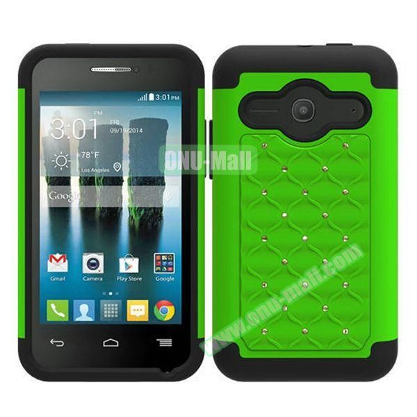 Bling Bling Style Silicone and PC Heavy-duty Case for Alcatel One Touch Evolve 2 (Green)