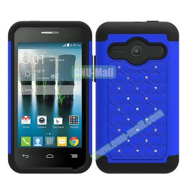 Bling Bling Style Silicone and PC Heavy-duty Case for Alcatel One Touch Evolve 2 (Blue)