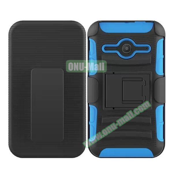 3 in1 Pattern Snap-On Kickstand Rugged Protective Hybrid Case for Alcatel One Touch Evolve 2 (Baby Blue)