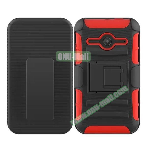 3 in1 Pattern Snap-On Kickstand Rugged Protective Hybrid Case for Alcatel One Touch Evolve 2 (Orange)