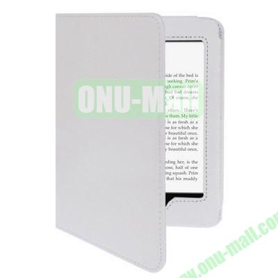 Litchi Texture Leather Case for Amazon Kindle Paperwhite (White)