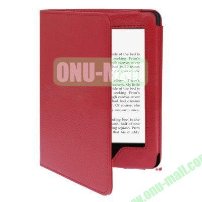 Litchi Texture Leather Case for Amazon Kindle Paperwhite (Red)