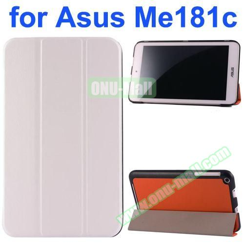 Karst Texture Flip Leather Case for Asus MeMo Pad 8 ME181C (White)