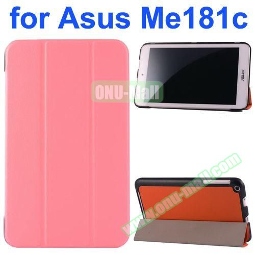 Karst Texture Flip Leather Case for Asus MeMo Pad 8 ME181C (Pink)