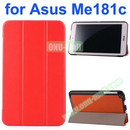 Karst Texture Flip Leather Case for Asus MeMo Pad 8 ME181C (Red)