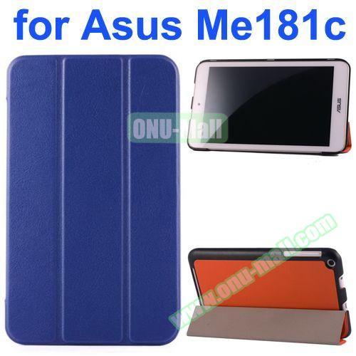 Karst Texture Flip Leather Case for Asus MeMo Pad 8 ME181C (Dark Blue)