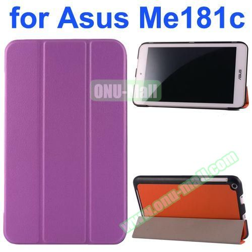 Karst Texture Flip Leather Case for Asus MeMo Pad 8 ME181C (Purple)