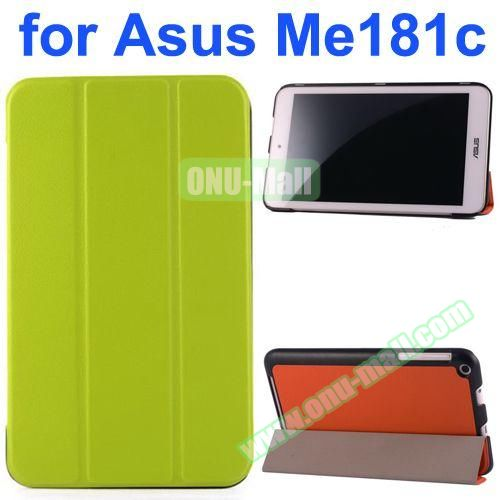 Karst Texture Flip Leather Case for Asus MeMo Pad 8 ME181C (Green)