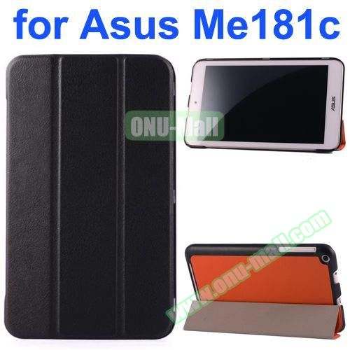 Karst Texture Flip Leather Case for Asus MeMo Pad 8 ME181C (Black)