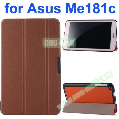 Karst Texture Flip Leather Case for Asus MeMo Pad 8 ME181C (Brown)