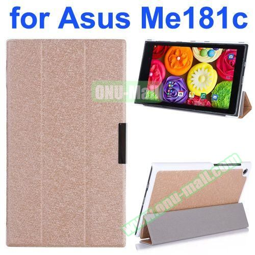 Silk Texture PU Leather Case for Asus MeMo Pad 8 ME181C (Champagne)