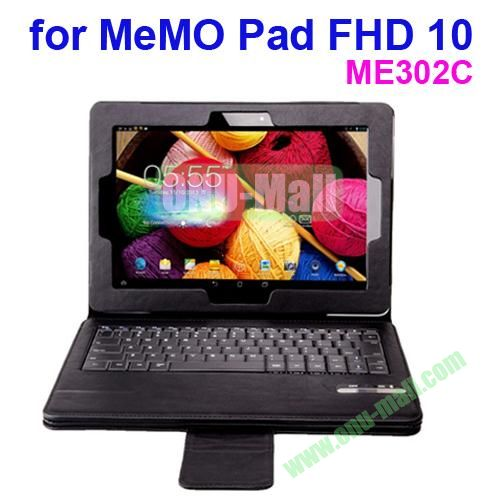 Detachable Bluetooth Keyboard for ASUS MeMO Pad FHD 10  ME302C with Leather Case