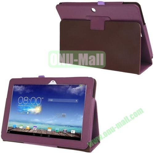 Leather Case for ASUS MeMO Pad 10 ME102A  ME102 with Holder (Purple)