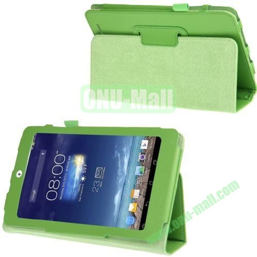 Litchi Texture Flip Leather Case for Asus MeMO Pad 8  ME180A with Holder (Green)