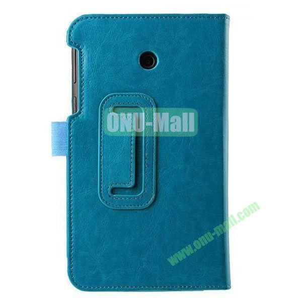 Crazy Horse Texture Flip Stand Leather Case for ASUS Fonepad 7  FE7010CG  FE170 (Cyan)