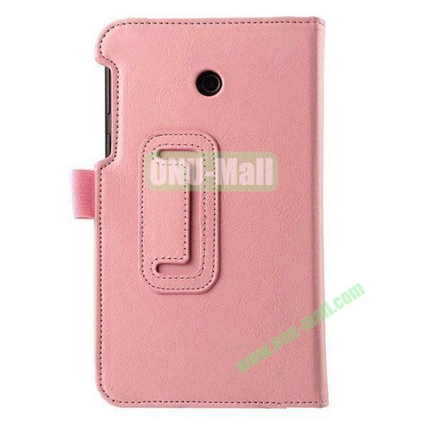 Crazy Horse Texture Flip Stand Leather Case for ASUS Fonepad 7  FE7010CG  FE170 (Pink)