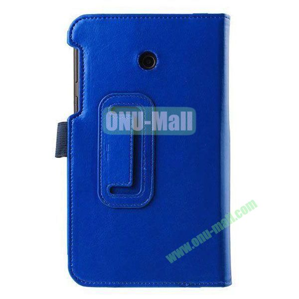 Crazy Horse Texture Flip Stand Leather Case for ASUS Fonepad 7  FE7010CG  FE170 (Blue)
