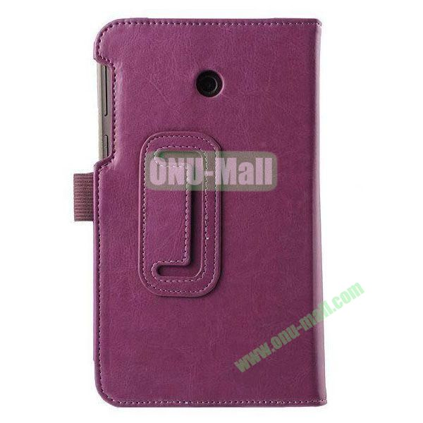 Crazy Horse Texture Flip Stand Leather Case for ASUS Fonepad 7  FE7010CG  FE170 (Purple)
