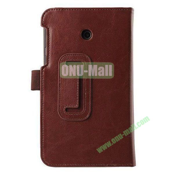 Crazy Horse Texture Flip Stand Leather Case for ASUS Fonepad 7  FE7010CG  FE170 (Brown)