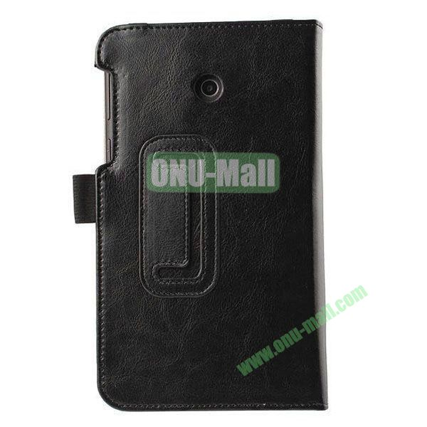Crazy Horse Texture Flip Stand Leather Case for ASUS Fonepad 7  FE7010CG  FE170 (Black)