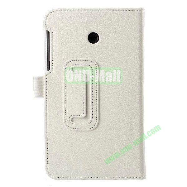 Litchi Texture Flip Stand Leather Case for ASUS Fonepad 7  FE7010CG  FE170 (White)