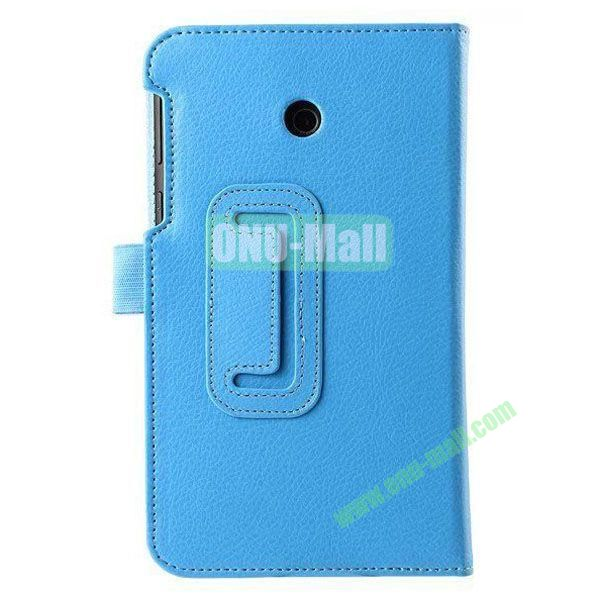 Litchi Texture Flip Stand Leather Case for ASUS Fonepad 7  FE7010CG  FE170 (Blue)