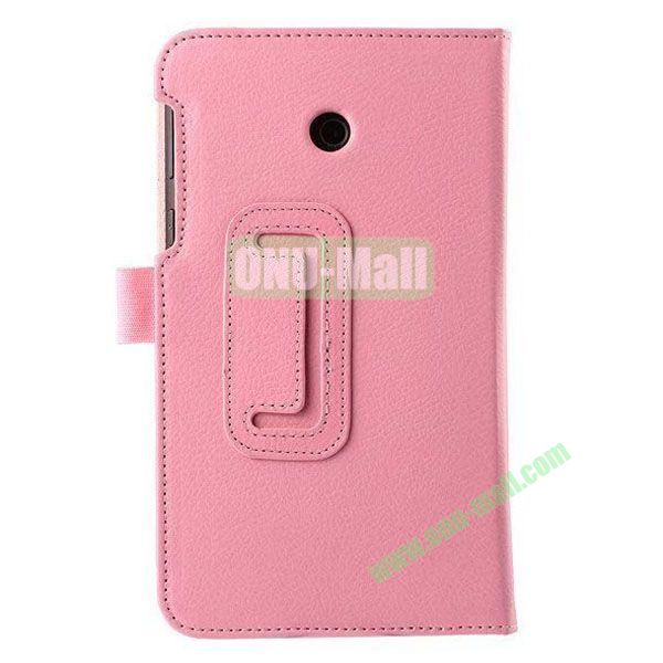Litchi Texture Flip Stand Leather Case for ASUS Fonepad 7  FE7010CG  FE170 (Pink)