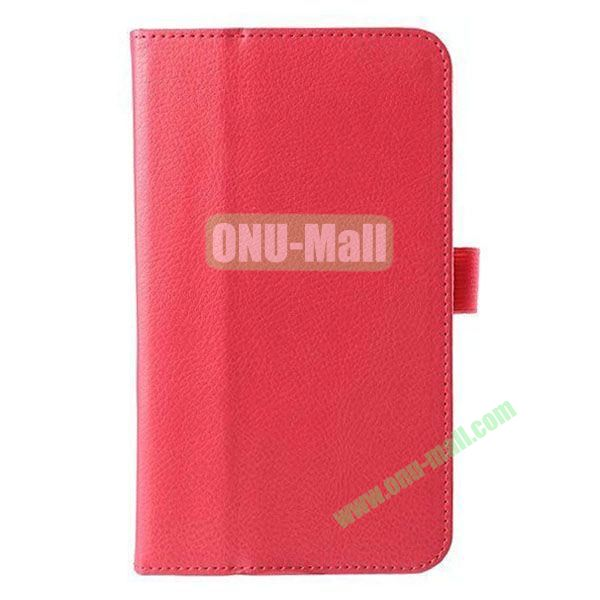 Litchi Texture Flip Stand Leather Case for ASUS Fonepad 7  FE7010CG  FE170 (Rose)