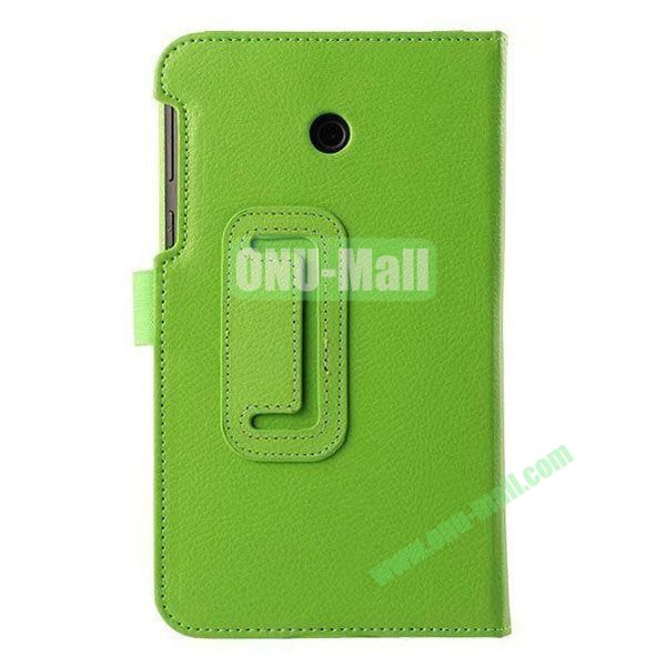 Litchi Texture Flip Stand Leather Case for ASUS Fonepad 7  FE7010CG  FE170 (Green)