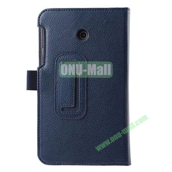Litchi Texture Flip Stand Leather Case for ASUS Fonepad 7  FE7010CG  FE170 (Dark Blue)
