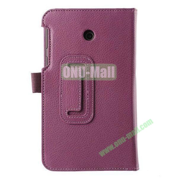 Litchi Texture Flip Stand Leather Case for ASUS Fonepad 7  FE7010CG  FE170 (Purple)