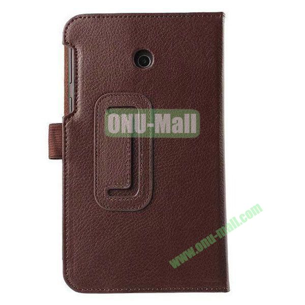 Litchi Texture Flip Stand Leather Case for ASUS Fonepad 7  FE7010CG  FE170 (Brown)