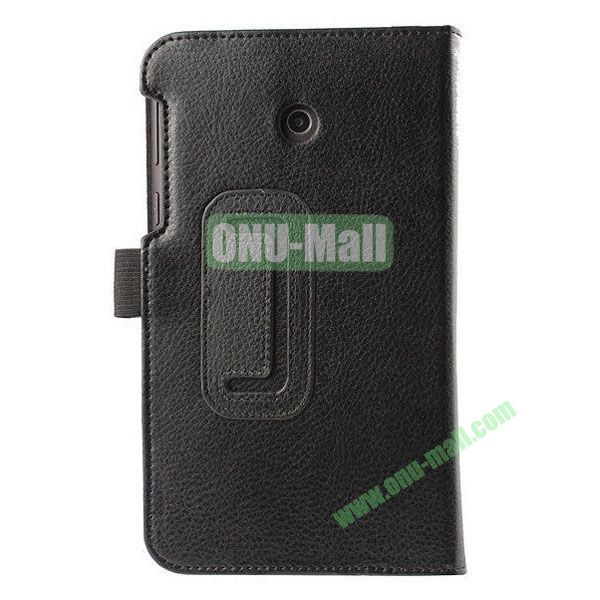Litchi Texture Flip Stand Leather Case for ASUS Fonepad 7  FE7010CG  FE170 (Black)