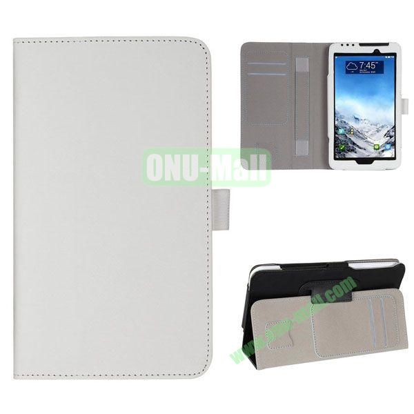 New Arrival Flip Stand Leather Case for ASUS Fonepad 7  FE7010CG  FE170 with Card Slots and Armband Belt (White)