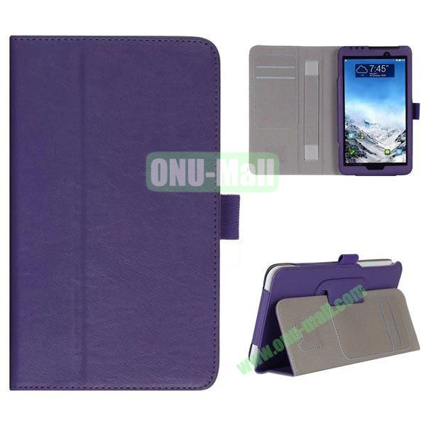New Arrival Flip Stand Leather Case for ASUS Fonepad 7  FE7010CG  FE170 with Card Slots and Armband Belt (Purple)