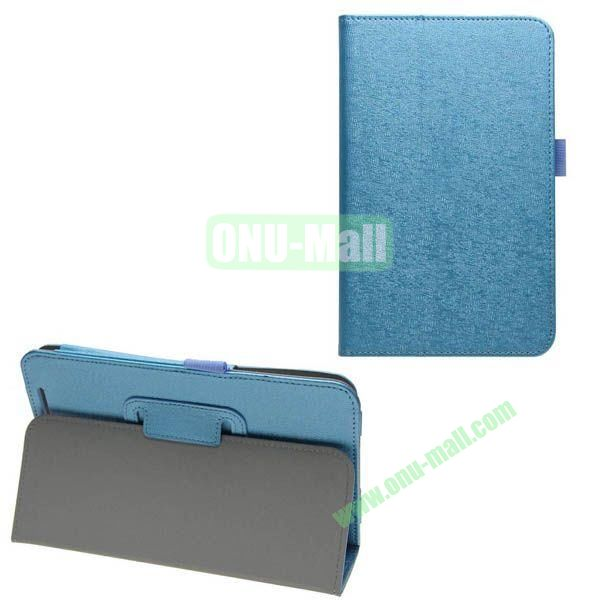 Silk Texture Leather Case for Asus MeMO Pad 8 (ME180A) with Holder (Blue)