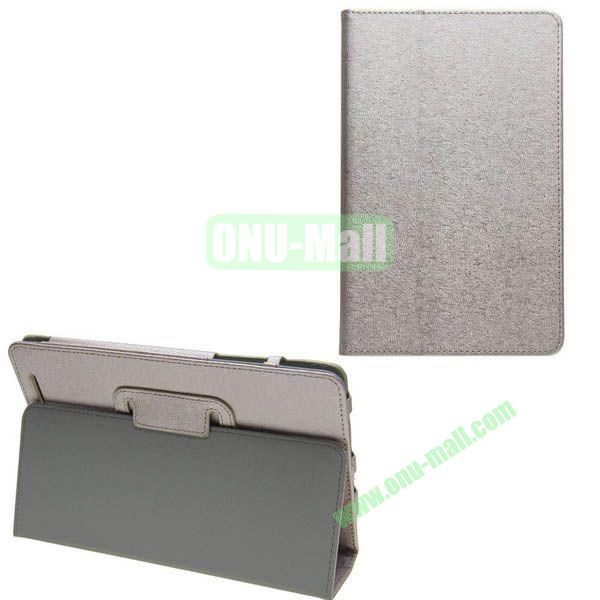 Silk Texture Leather Case for Asus MeMO Pad 8 (ME180A) with Holder (Silver)