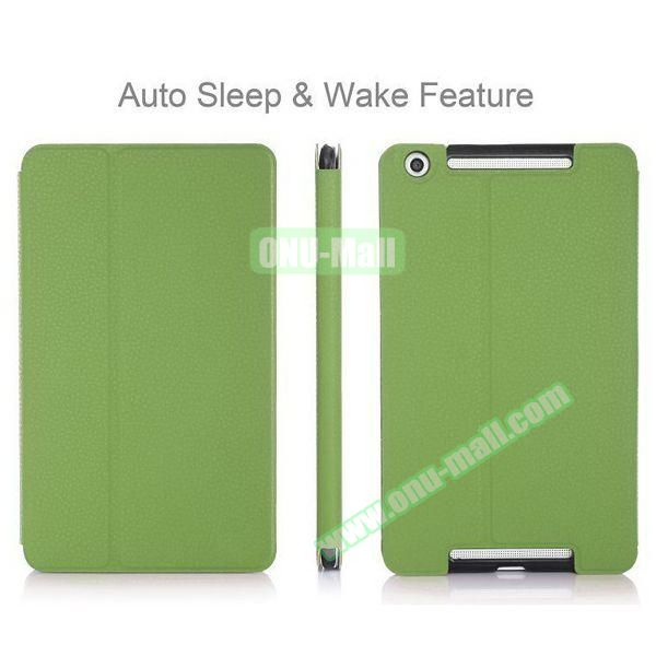 High-end Pattern PU Leather Flip Cover for Asus MeMo Pad 8 ME581C with Magetic Closure and Gears (Green)