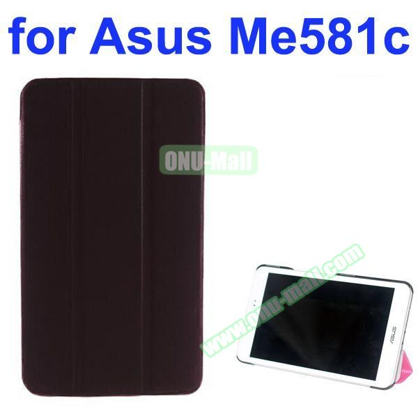 Karst Texture 3 Folding Pattern Stand Leather Case for Asus MeMO Pad 8 ME581C (Wine Red)