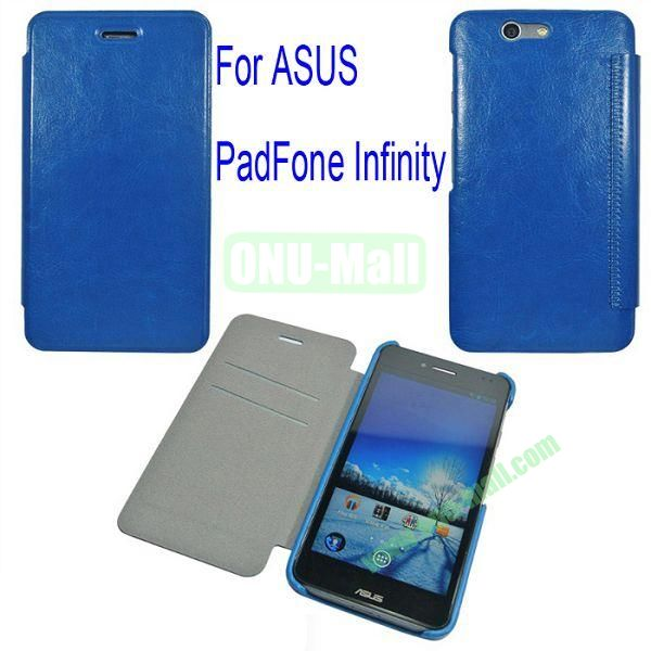 Genuine Flip Leather Case Cover for ASUS PadFone Infinity (PadFone 3)with Card Slots(Blue)