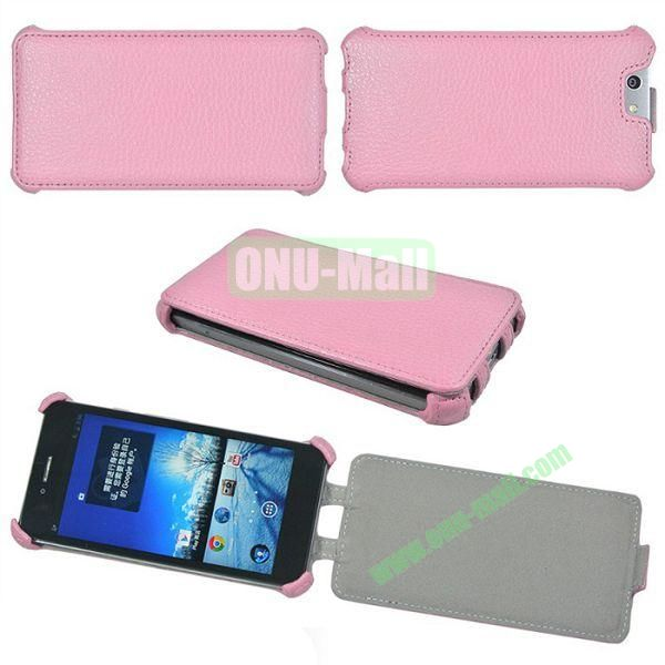 Litchi Lines Flip Leather Case Cover for ASUS PadFone Infinity (PadFone 3)(Pink)