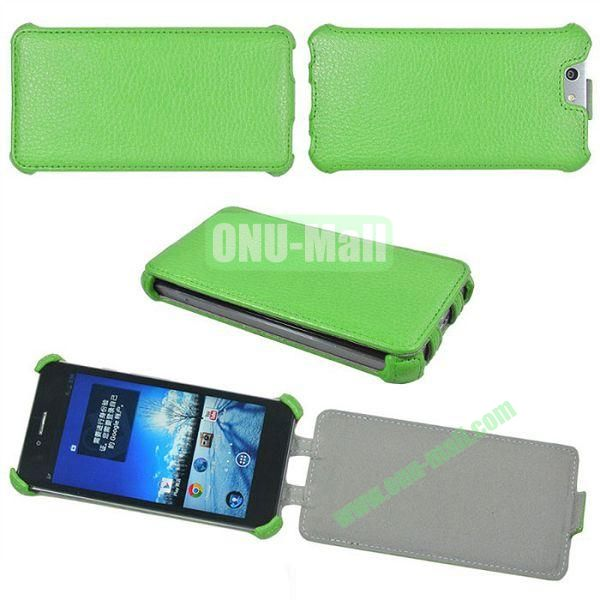 Litchi Lines Flip Leather Case Cover for ASUS PadFone Infinity (PadFone 3)(Green)